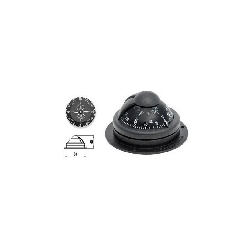 Compass Comet 1, black, 81(65)x45mm