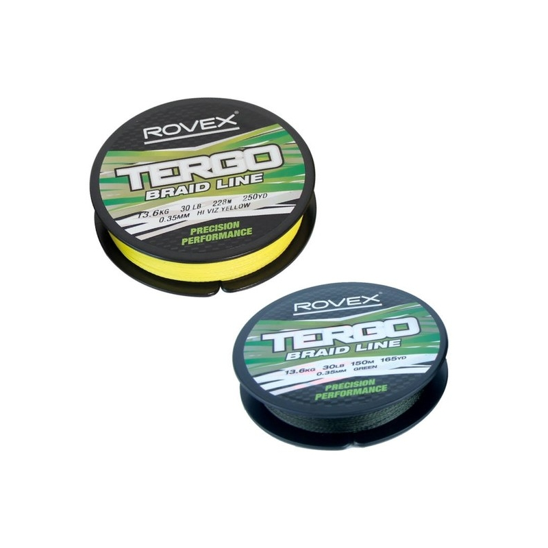 Rovex Tergo Braids 0.12 - 0.45mm, 228m, yellow/green