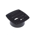 Air Vent Cover, 125x125mm, black
