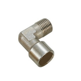"Fuel line terminal 90°, 1/4"" male thread, 1/4"" feemale thread"