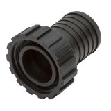 Plastic fitting ø38mm, stright with swivel 1 1/2""