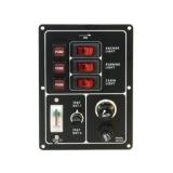 Lülitipaneel 3 lülitiga akutest/sigareti süütaja 12V (30A)