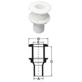 Thru-Hull Fitting Ø35mm, nylon