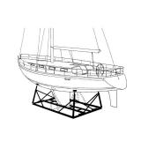 Sailboat Steel Cardles, type I, 2.5 - 4.0m, 7000kg