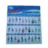 Devil Carded Spinner Selection, 30pce