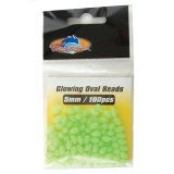 Glowing Oval Beads, 5mm, 100pcs/pk