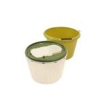 Live Bait Bucket (two tone Green) 12 litre, 2-pcs