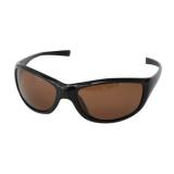 Поляризационные очки, коричневые линзы, глянцевая черная оправа