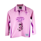 Рубашка детская для рыбалки, длинный рукав, розовый/фиолетовый, № 10