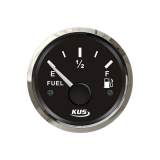 Fuel Level Gauge Sea-V series, 240-33ohm, 12V, Ø52mm, S.S.-Black
