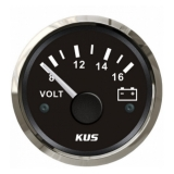 Voltmeter Sea-V Series, Ø52mm, 8-16V, S.S.-Black