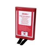Lalizas Fire Blanket 100x100cm in PVC case
