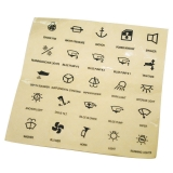 Self-adhesive transparent function labels, 25pcs set