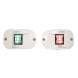 "LED Side Lights ""FOS LED12"", Red/Green, 112.5°, vertical mount, recessed"