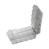 Tarvikute karp, kahepoolne, 20 jaotist, 16.5x9.7x4cm