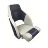 Captain Chair Nassau, light gray/dark blue
