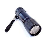 9-светодиодный УФ-фонарик, алюминиевый корпус