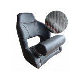 Captain Chair Sport, Black (Red sewing)