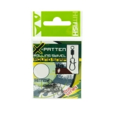 X-Patten Rolling Swivel With Round Snap, No 12, 8.0kg, 6pcs
