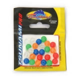 Beads 8mm (5 colours assorted), 25pcs/pk