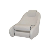 Captain Chair Comfort, Light Gray (Blue piping)