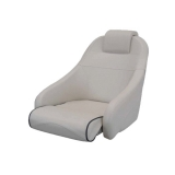 Captain Chair Comfort, White (Blue piping)